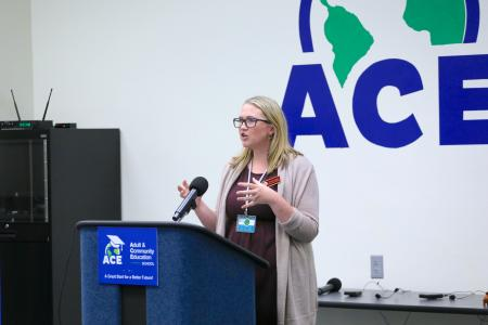 Dr Jenny Root speaks at ACE Summer Institute