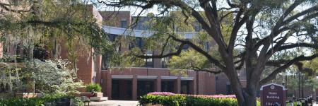 FSU College of Education Stone Building and Courtyard
